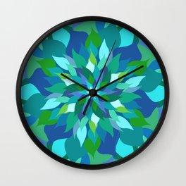 Healing Leaves Wall Clock