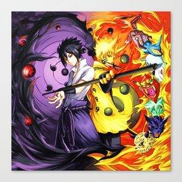 sasuke and naruto Canvas Print