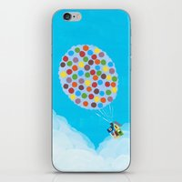 pixar iPhone & iPod Skins featuring Up - Disney/Pixar by Justine Shih