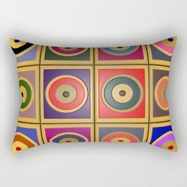 Rectangles & Circles #3 Rectangular Pillow