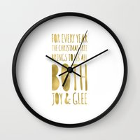 glee Wall Clocks featuring Joy & Glee by More Than Cake