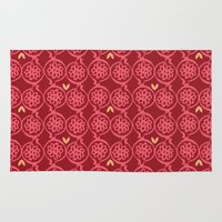 pomegranate Area & Throw Rugs featuring pomegranate by ottomanbrim