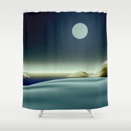 Moonlit night Shower Curtain