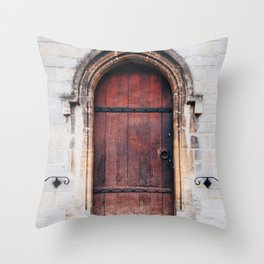 Though Closed Doors Throw Pillow