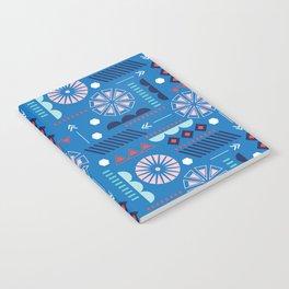 GEOMETRIC BLUE Notebook