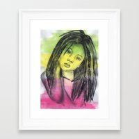 marley Framed Art Prints featuring Marley by Katy Kaydash