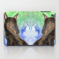 doberman iPad Cases featuring Doberman by gunberk