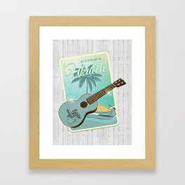 Life is better with an ukulele Framed Art Print