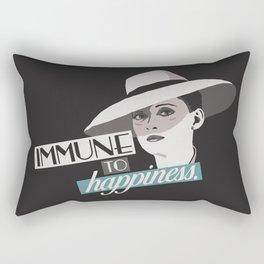 Immune to Happiness Rectangular Pillow