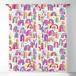 Cute Colorful Festival Rainbows Blackout Curtain
