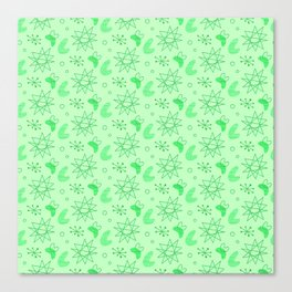 Neon Lime Green Midcentury Canvas Print