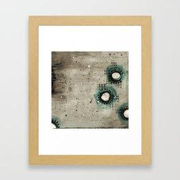 Sepia Circles Right Framed Art Print
