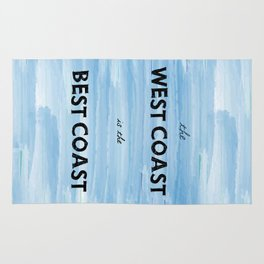 West Coast is the Best Coast - Ocean Watercolor - California Oregon Washington Pacific Love   Rug