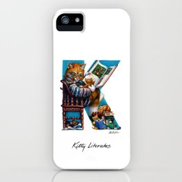 Kitty Literates iPhone Case