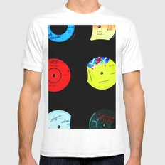 Vinyl Records Version 2 White MEDIUM Mens Fitted Tee