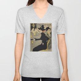Divan Japonais - Henri de Toulouse Lautrec Unisex V-Neck