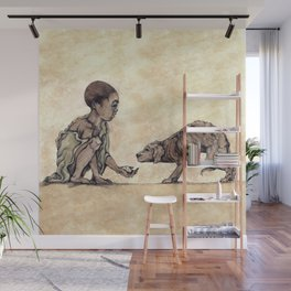 Boy and Puppy Wall Mural
