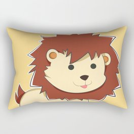 Happy Cartoon Baby Lion Rectangular Pillow