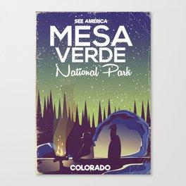 Mesa Verde National Park Camping Canvas Print