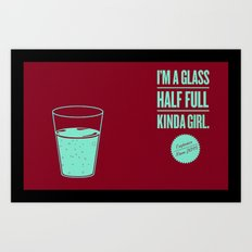 Glass Half Full Girl Art Print