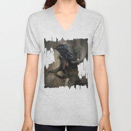 Black Dragon Unisex V-Neck