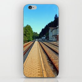 Haslach railway station | architectural photography iPhone Skin