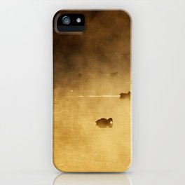 COOTS IN LAKE iPhone Case