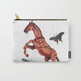 horse and butterfly Carry-All Pouch