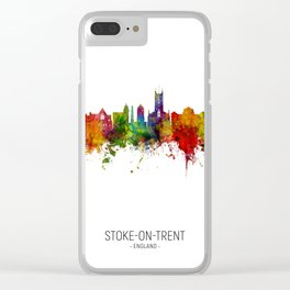 Stoke-on-Trent England Skyline Clear iPhone Case