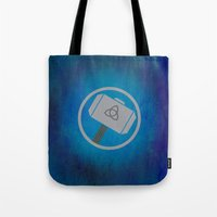 thor Tote Bags featuring Thor by Some_Designs