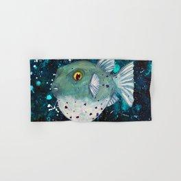 Friendly Green Fugu Redux Hand & Bath Towel