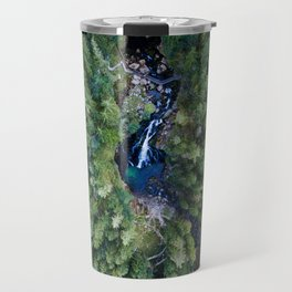 königssee waterfall alps bayern forrest drone aerial shot nature wanderlust vertical Travel Mug