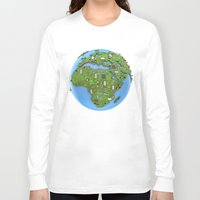 data Long Sleeve T-shirts featuring Data Earth by GrandeDuc