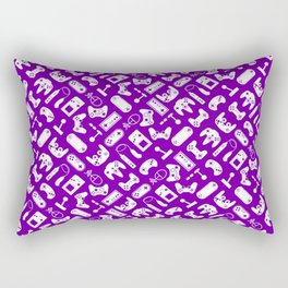 Control Your Game - White on Purple Rectangular Pillow