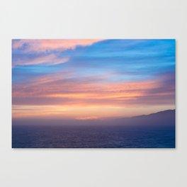 Blue Dreams Sunset - Ocean Sunset, Landscape, Scenery, Beautiful Orange Yellow Canvas Print