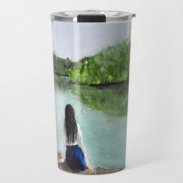 girl and nature Travel Mug