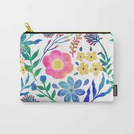 Stylish girly pink flowers hand paint design Carry-All Pouch