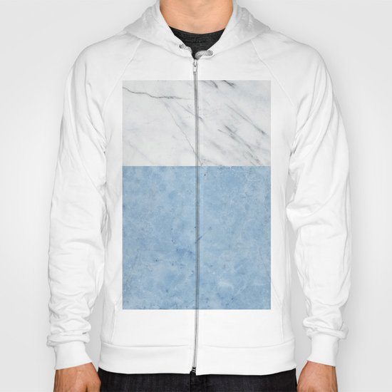 Porcelain blue and white marble Hoody