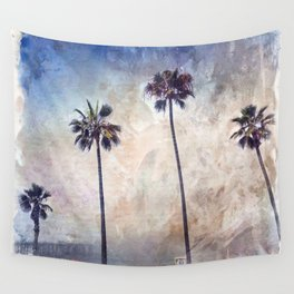 Palm Trees Watercolor Wall Tapestry