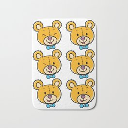 Bear Head Bath Mat