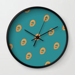 Jalebi Pattern- Teal Wall Clock