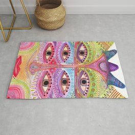 kindly expressed kind of kindness mask Rug