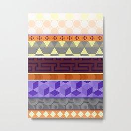 Multi Coloured Geometric Pattern Metal Print