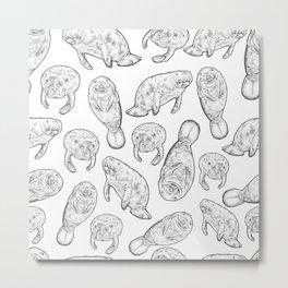 Manatees Metal Print