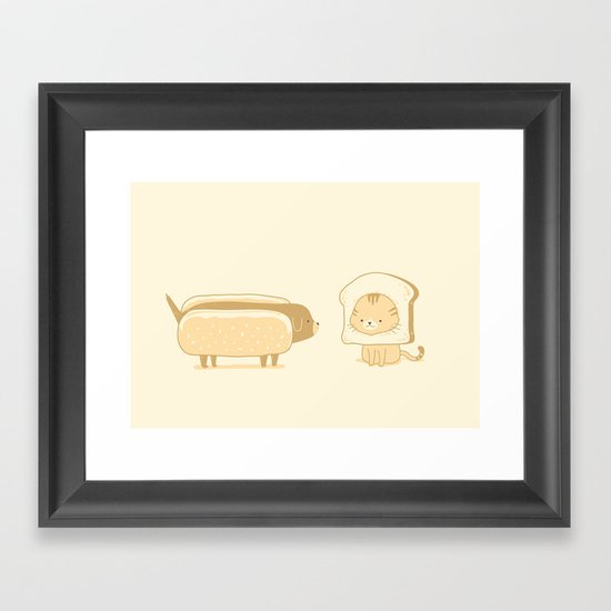 A Bun Buddy Framed Art Print