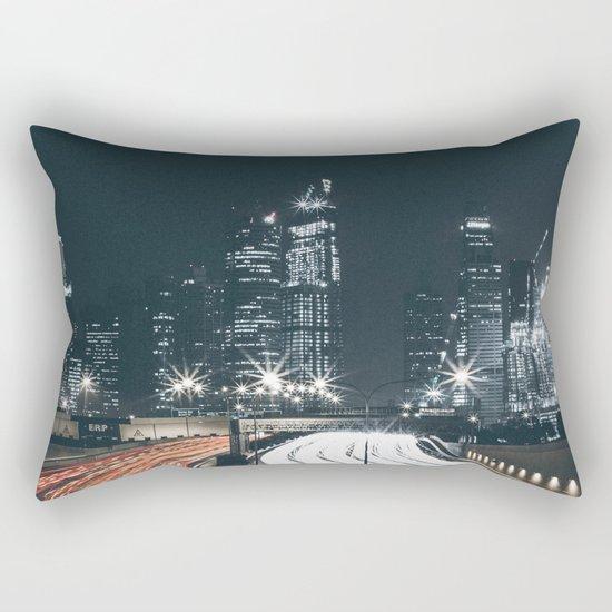 Night city long exposure Rectangular Pillow