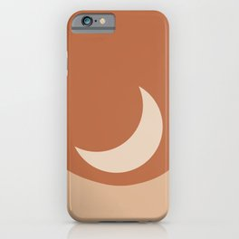 Moonrise Minimalism - Orange iPhone Case