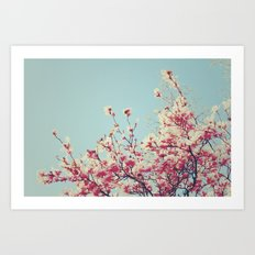 Retro Blossoms Art Print