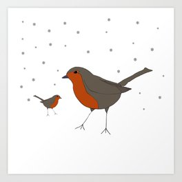 Robin & Little Bobbin. Art Print