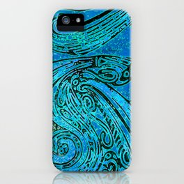 Chanting Blue Loon iPhone Case